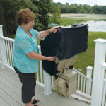 Bruno Elite Outdoor Stair Lift (Straight Chair Cover)
